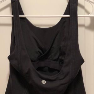 lululemon athletica Tops - Lululemon black tank with shelf bra